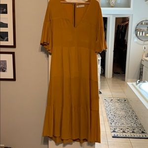 Anthropologie tiered maxi dress.